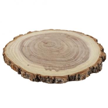Rustikaler Holz Kerzenteller, Untersetzer, Baumscheibe, 13 - 16 cm