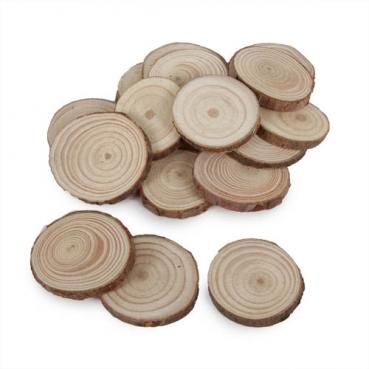 Streudeko Holzscheiben rund, gemischte Größen, 30 - 45 mm