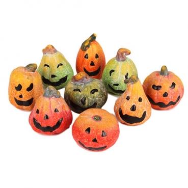 9 Halloween Deko Kürbis Gesichter, 35 - 65 mm