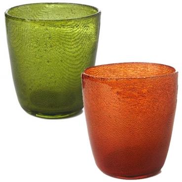 Duni Kerzenglas Raindrops in 2 Farben, handgefertigt