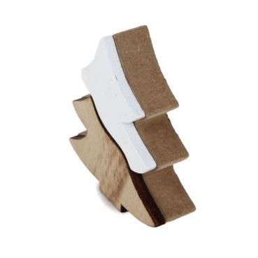 deko holz kerze weihnachten mit metallflamme naturgerostet 23 cm. Black Bedroom Furniture Sets. Home Design Ideas