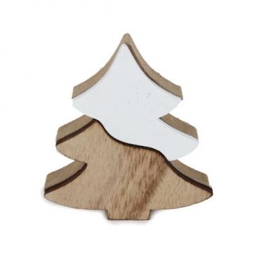 holz hirsch im winter harmonie design in hellbraun wei 14 cm. Black Bedroom Furniture Sets. Home Design Ideas