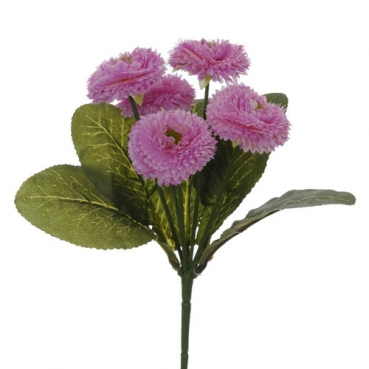 Kunstblume Bellis Strauss in Flieder, 19 cm