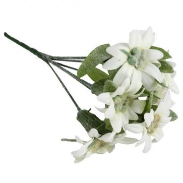 Kunstblume Edelweiß mit 5 Blüten, 24 cm