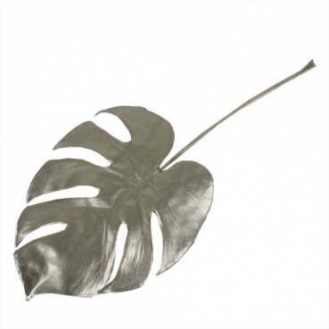 Kunstblume Monstera Dekoblatt in Champagner-Gold, 37 cm
