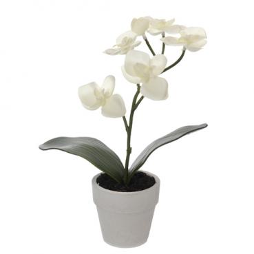 Kunstblume Orchideentopf, 26 cm