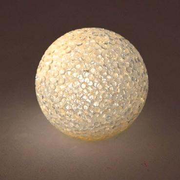 Kleine LED Licht-Kugel in Schneeball-Kristalloptik, kabellos, 60 mm