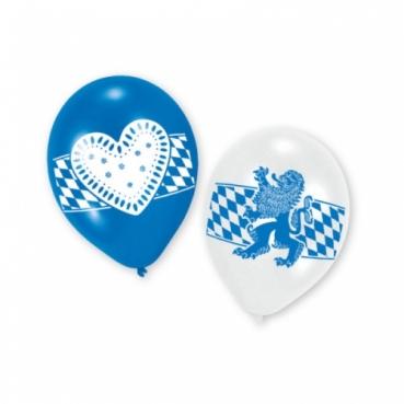 6er Pack Luftballons Oktoberfest, Bayrische Symbole