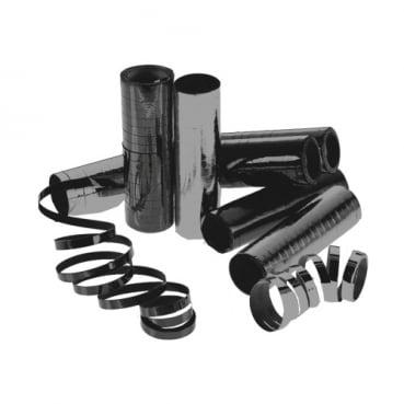 1 Rolle Luftschlangen in Schwarz Metallic