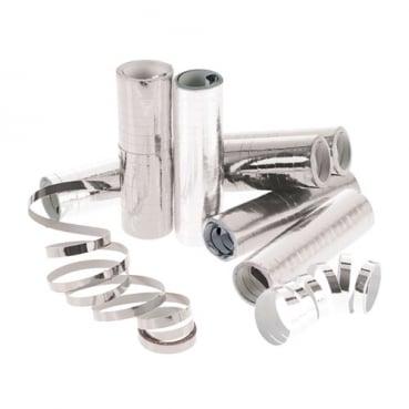 1 Rolle Luftschlangen in Silber Metallic