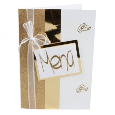 Tischkarte Goldene Hochzeit Hochzeit Eheringe In Goldweiß