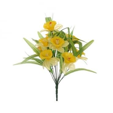 Kunstblume Narzissen, Osterglocken Strauss, 40 cm