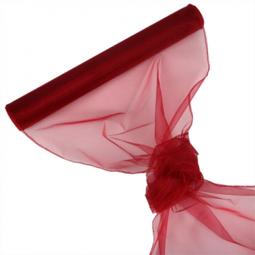 Organza Rolle 0,40 x 8,00 Meter in Bordeaux