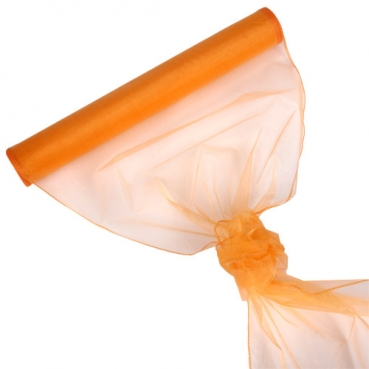 Organza Rolle 0,40 x 8,00 Meter in Apricot-Hellorange