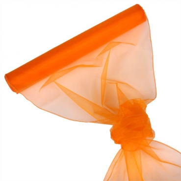 Organza Rolle 0,40 x 8,00 Meter in Orange