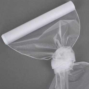 Organza Rolle 0,40 x 8,00 Meter in Weiß