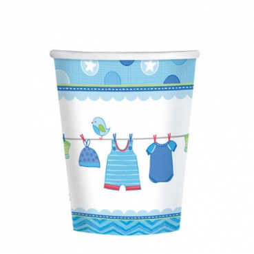 8er Pack Becher Baby Shower Party, Baby Boy