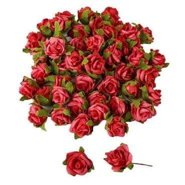50 Rosenköpfe in Rot als Streudeko