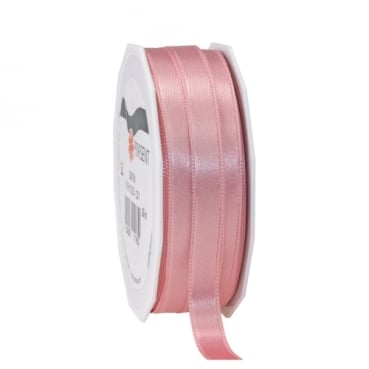 25 Meter Satin Band in Altrosa, 10 mm