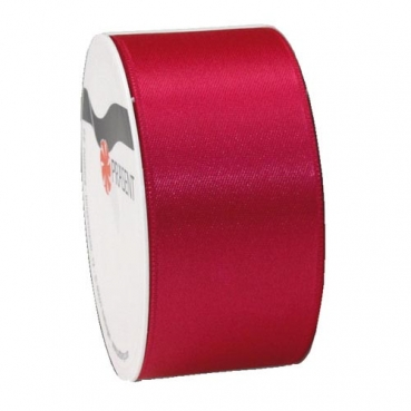 5 Meter Satin Band, schmal, in Pink, 40 mm