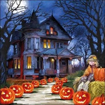 20er Pack Servietten Halloween Spukhaus, 33 x 33 cm