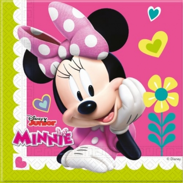 20er Pack Servietten Minnie und Daisy Duck, 33 x 33 cm