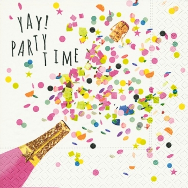 20er Pack Servietten Party Time, bunt, 33 x 33 cm