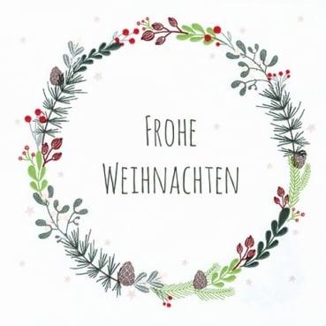 20er Pack Servietten Reigen -Frohe Weihnachten-, 33 x 33 cm