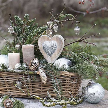 20er Pack Servietten Winter Arrangement, 33 x 33 cm