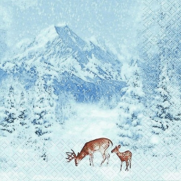 20er Pack Servietten Winterlandschaft, 33 x 33 cm