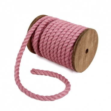 5 Meter Sizo®Jute Kordel in Rosa, 7 mm