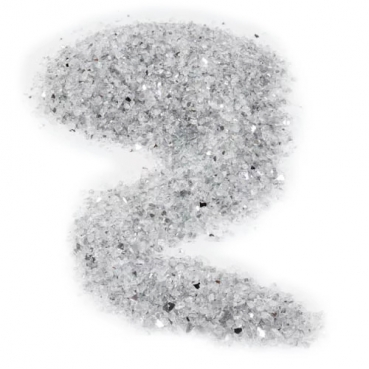 Spiegelgranulat Prisma Eis grob natur, 3 - 5 mm
