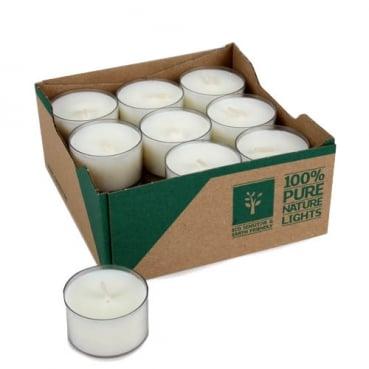 18 Teelichter Pure, Eco in Naturweiß, 7 h Brenndauer