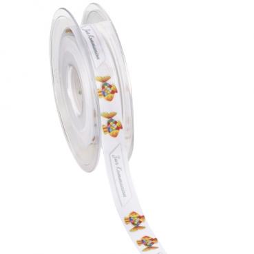 Tischband, Schleifenband Regenbogenfisch -Zur Kommunion-, 15 mm