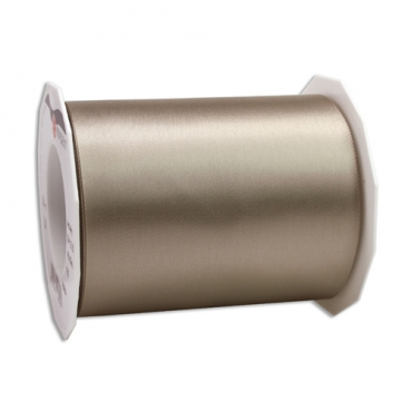 25 Meter Satin Tischband Adria in Taupe, 11 cm