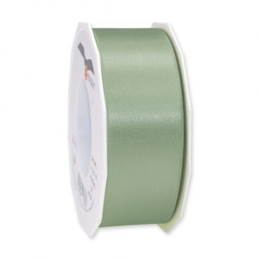 25 Meter Satin Band, schmal, in Pistache, 40 mm