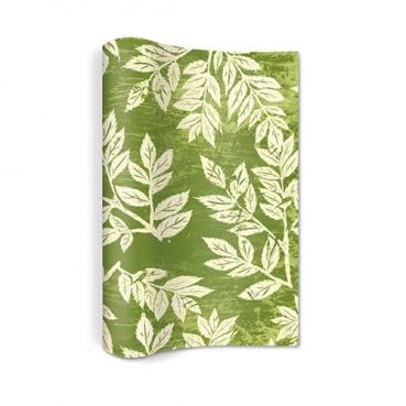 4 Meter Papier Tischläufer Herbst, Blätter Linolschnitt, 25 cm