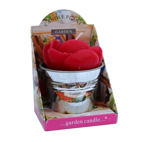 Gartenkerze Rose Im Tafeldeko Shop F R Die Tischdeko
