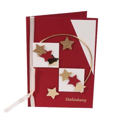 Einladungskarte Zu Weihnachten In Weinrot