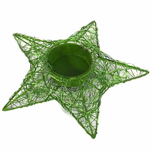 draht-stern-teelichthalter-in-grun
