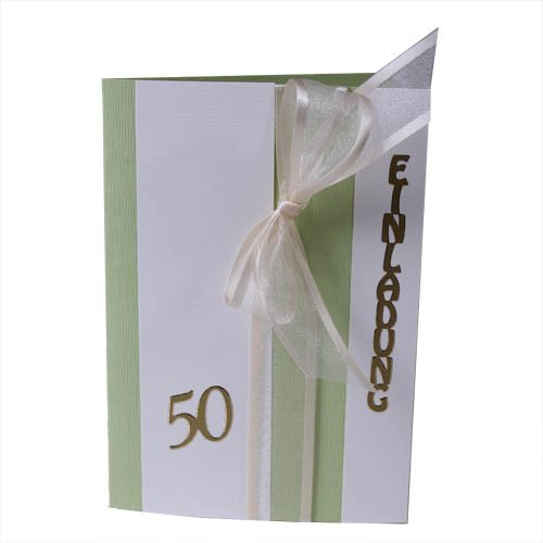 Einladungskarte zur Goldenen Hochzeit im Tafeldeko Shop. | Tafeldeko