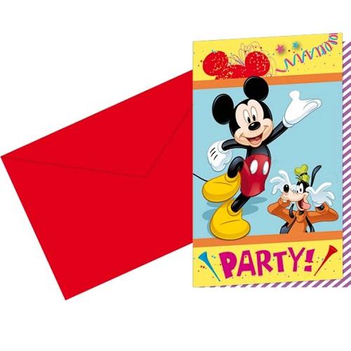 6er-pack-einladungskarten-mickey-carnival-mit-umschlag