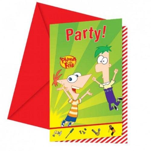 6er-pack-einladungskarten-phineas-ferb-mit-umschlag