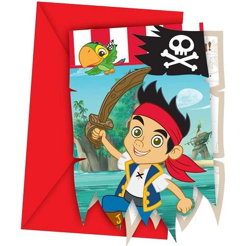 6er-pack-einladungskarten-jake-und-die-nimmerland-piraten-mit-umschlag