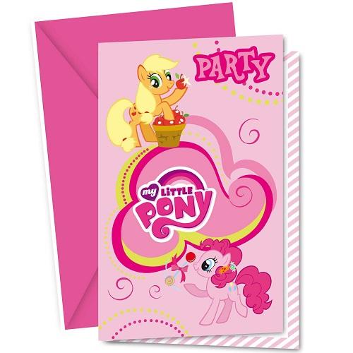 6er-pack-einladungskarten-my-little-pony-mit-umschlag