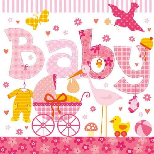 20er-pack-servietten-baby-madchen-in-rosa-33-x-33-cm