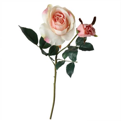 kunstblume-rose-in-creme-rosa-mit-2-bluten-48-cm