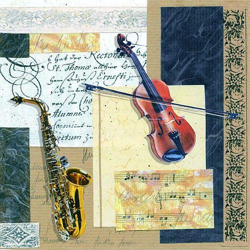 20er pack servietten musikinstrumente 33 x 33 cm - Duni weihnachtsservietten ...