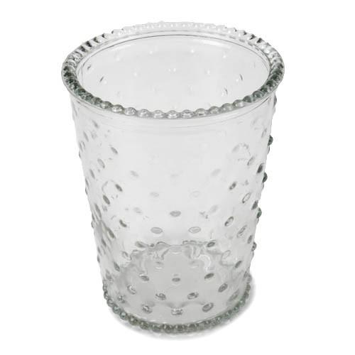 glas-vase-windlicht-mit-punkten-13-cm