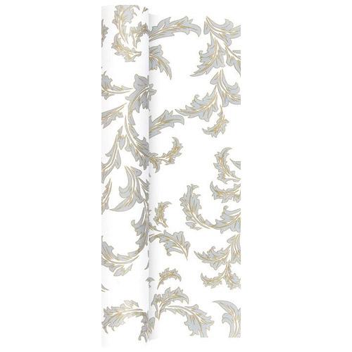 4 9 meter papier tischl ufer ornamentmotiv in gold silber 40 cm. Black Bedroom Furniture Sets. Home Design Ideas